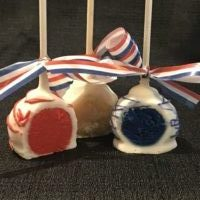 Fourth of July - Red White & Blue Vanilla Flavored Cake Pops