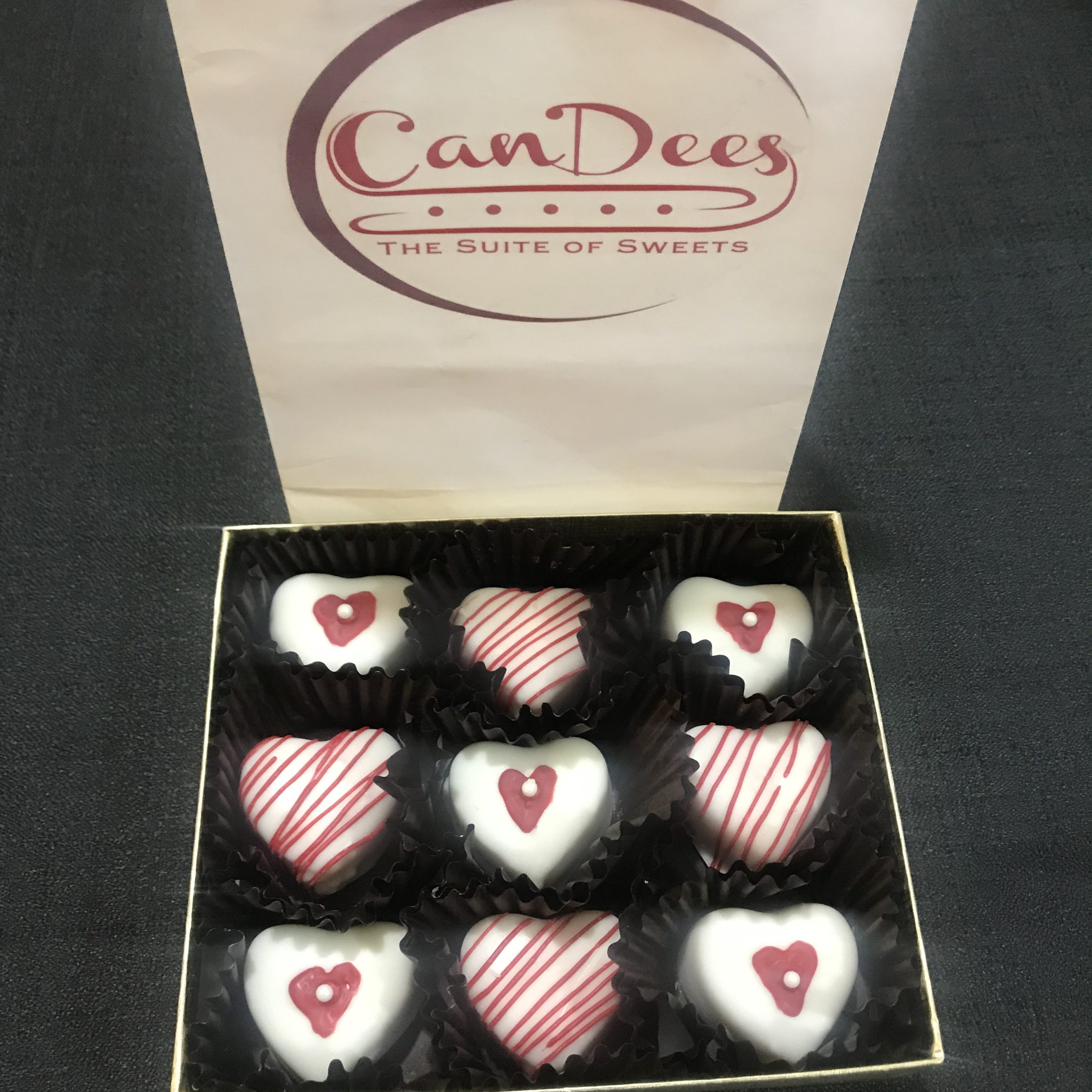 Heart Shaped Cake Bite Treat Box